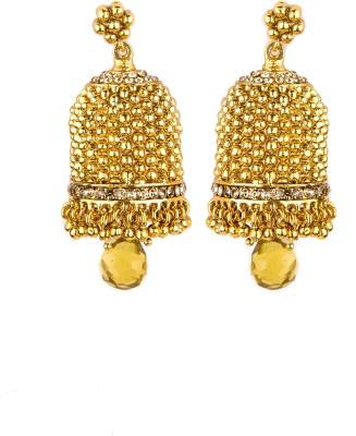 Bridesmaid Cubic Zirconia Copper Jhumki Earring
