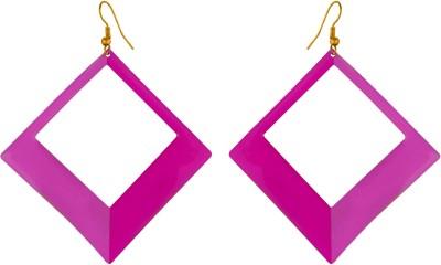 Pink Rose Passion Metal Dangle Earring