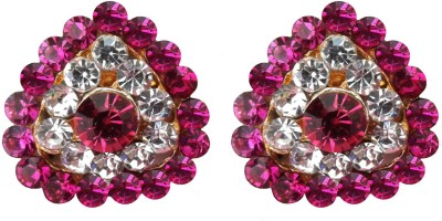 Shreya Collection Spring Sparkle-Pink & White Alloy Stud Earring