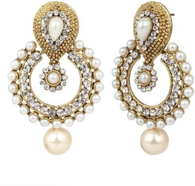 JDX American Diamond EarRIngs Alloy Chandbali Earring