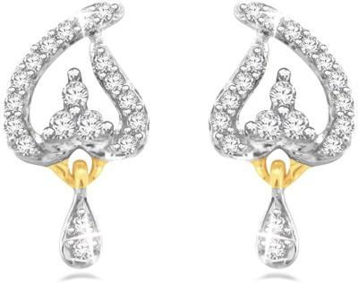 Sparkles Drop Diamond Yellow Gold 18kt Diamond Drop Earring