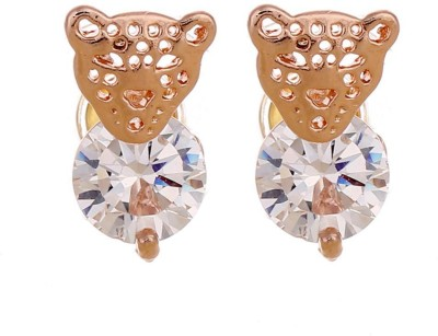 iSweven Newest Fashion Leopard Crystal Gold Plated Cubic Zircon for girls 14*8MM Alloy Stud Earring