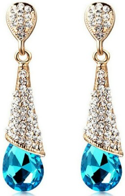 University Trendz Univ_E071 Crystal Alloy Drop Earring