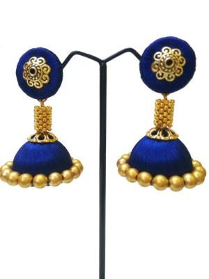 Ovis Creations SILKDORI JUMKKA Silk Dori Jhumki Earring