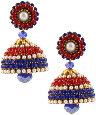 Jaipur Raga Handcrafted Drop Artificial Chain Jhumka Brass Jhumki Earring