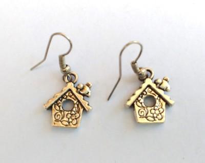 SrinidhiHandiCreations House Metal Dangle Earring