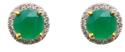Jdj Imitation Jewelleris Green Tops Cubic Zirconia Alloy Clip-on Earring