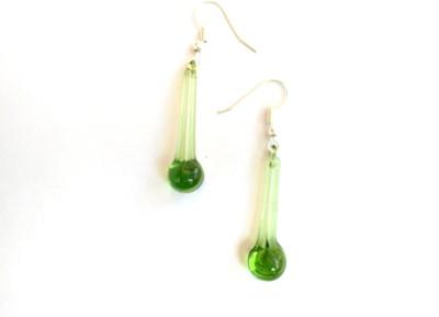 SrinidhiHandiCreations SHC Glassy Glass Drop Earring