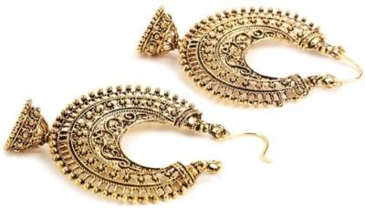 Jewels Guru Diva Style Alloy Hoop Earring
