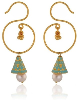 Rooh Jewellery Conical Meenakari Copper Dangle Earring