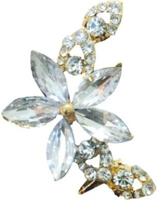 FashBlush Forever New Floral Gem Moonshine Glam Alloy Cuff Earring