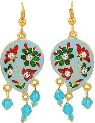 Maayra Sensual Meenakari Crystal Brass Dangle Earring