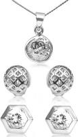 Big Tree BIG Tree Silver CZ Earring Combo for Women Copper Stud Earring