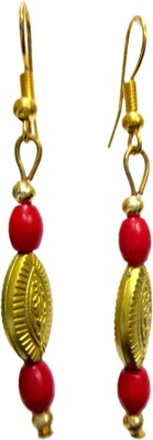 DCS Golden Beads Wood Drop Earring