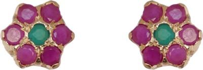 Janki Jewellers Designer Flower Cubic Zirconia Alloy Stud Earring