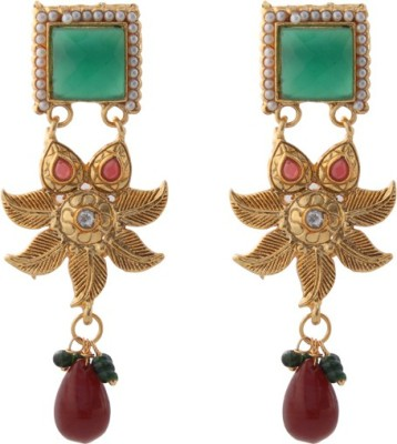 TM FASHIONS Spring Sparkle Brass Drop Earring
