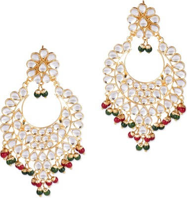 Pink Pitch Intricate Alloy Dangle Earring