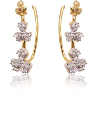 Ratnakar small earing cuff in white cz diamond Alloy Cuff Earring