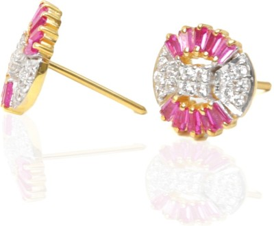 Ansh collection Princess Delight4 Cubic Zirconia Silver Stud Earring
