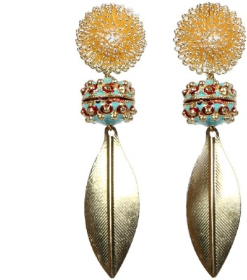 Envy Fancy Yellow Gold Drop Earring