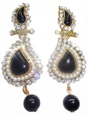 SB Fashions Black Pearl earring Brass Drop Earring