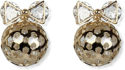 Aimez Jeweled Bow G Metal Stud Earring