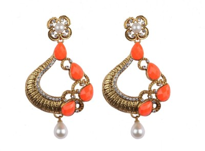 Aashvi Creation Party Cubic Zirconia Alloy Chandelier Earring