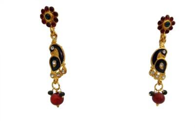 W Stop Wedding Crystal Brass Drop Earring