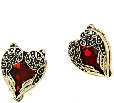 Amour Antique Style Heart Crystal Alloy Stud Earring