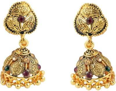 Diovanni Fashionista's Elegant Golden Metal Jhumki Earring
