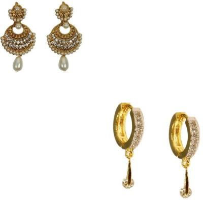 Rashi Jewellery Style Diva 2 Combo Cubic Zirconia Alloy Earring Set