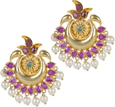 Mehtaphor Neysa_3 Crystal Brass Chandbali Earring