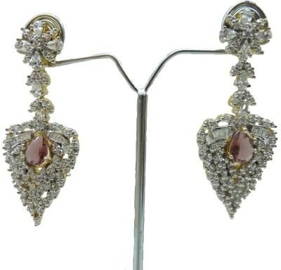 Aakhya EAR23R Diamond Rose Gold Drop Earring
