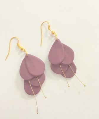Craffiti Lily Clay Ceramic Drop Earring