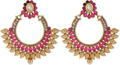 Chandrika Pearls Beautiful Alloy Chandbali Earring