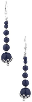 Factorywala Pair Of Blue Baubles Alloy Dangle Earring