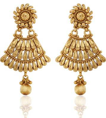 AccessHer Fashionable Cubic Zirconia Brass Drop Earring