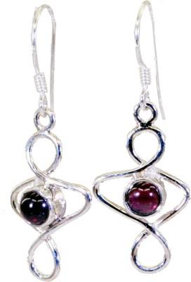 Riyo Well-Formed Garnet Garnet Sterling Silver Dangle Earring