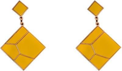 R18Jewels-Fashion&U Sunshine Yellow_GOLD Metal Drop Earring