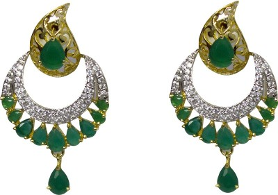 Jewelgrab Sai-Ad-Em-Dangler Alloy Chandbali Earring