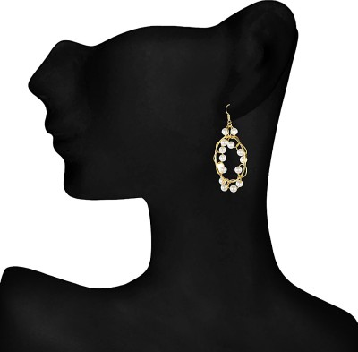 Indus Round Silver Dangle Earring