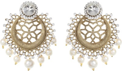 SAADGI Bollywood Style Wedding Collection Alloy Chandbali Earring