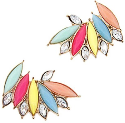 Kalaplanet Fashion Retro Sweet Fluorescent Wing Alloy Stud Earring