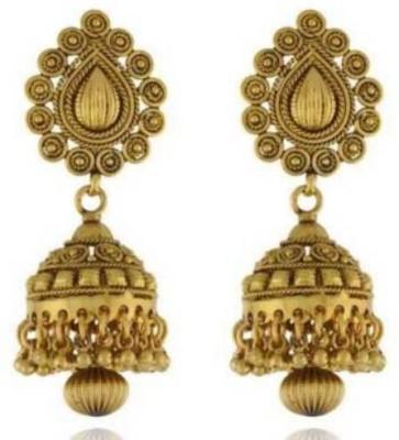 Happyshoppi New Fancy Brass, Copper Jhumki Earring