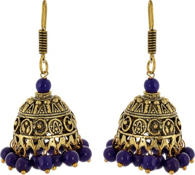 Subharpit Ethnic Collection Beads Metal Jhumki Earring