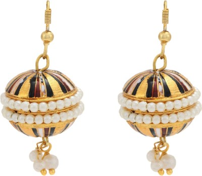 Happy States Embellished Metal Drop Earring