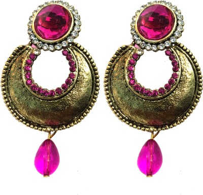 Alak Dream Girl Crystal Alloy Chandbali Earring
