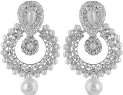 GUNDSONS ER003 Crystal Metal Chandbali Earring