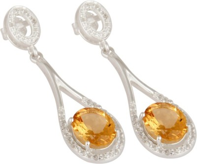Tanishi sterling Citrine, Topaz Silver Drop Earring