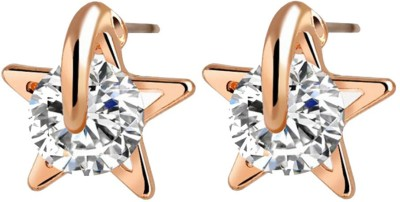 Ruvee Star from the North Pole Zircon Alloy Stud Earring